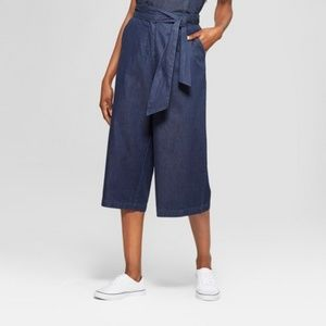 Mossimo Wide Leg Culottes with Tie Waist Sz M